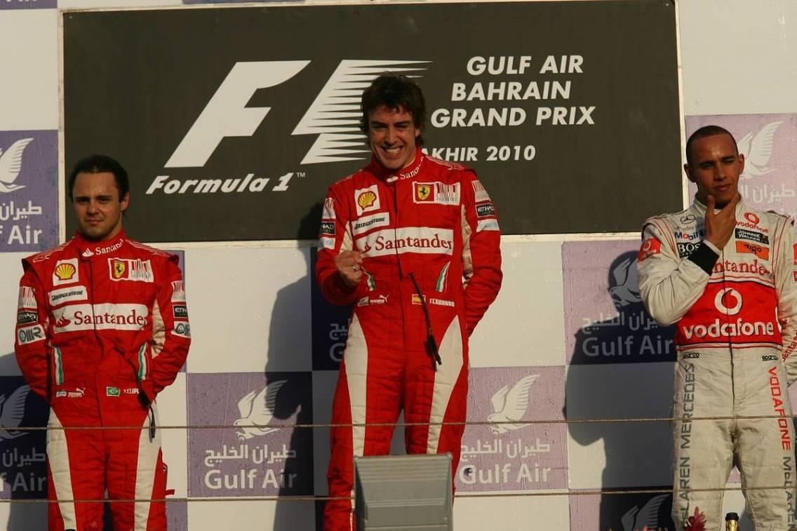 Risultati immagini per bAHRAIN f1 2010 podio