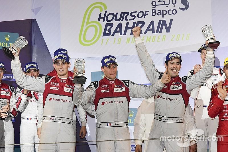 WEC 6H Bahrein : Audi si congeda con una doppietta, a Porsche il titolo costruttori.